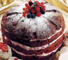 Panettone in rosa