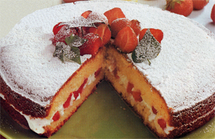 Torta light alle fragole